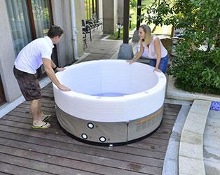 Portable spas portable hot tubs splash relax for The range lazy spa