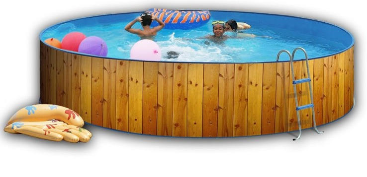 Wood effect pool 3.5m