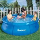 "Bestway Fast Set Round Inflatable Pool 8ft x 26"" No Pump"