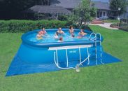 Intex Oval Framed Inflatable Pool Package 18ft x 10ft x 42""