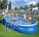 Bestway Oval Frame Inflatable Pool 12ft x 20ft x 48""