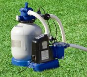 Intex 2650 Gall/Hr Krystal Clear Sand Filter Pump With Saltwater System