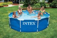 "Intex Metal Frame Pool 10ft x 30"" No Pump"