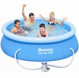 "Bestway Fast Set Round Inflatable Pool 8ft x 26"" With Pump"