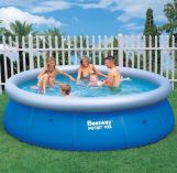 "Bestway Fast Set Round Inflatable Pool 12ft x 36"" No Pump"