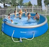 Bestway Fast Set Round Inflatable Pool Package 18ft x 48""