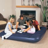 "Bestway King Easy Inflate Flocked Air Bed With Built-In Foot Pump 80"" x 72"""