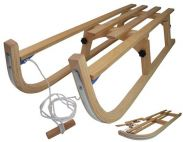Snow Rodel 90 Folding Wooden Sledge Toboggan
