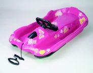 Snow Space Pink Sledge Toboggan