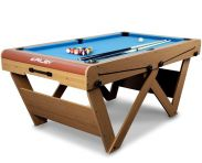 "Riley 6ft ""W"" Leg Folding Snooker & Pool Table (FSPW-6)"