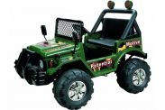 12 Volt Battery Powered Twin 6V Ride On - Jeep GBA15 - Green