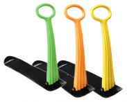 Plastic Snow Scooter- Pack Of 3 (Green/Orange/Orange)