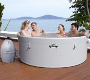 Lay Z Spa Monaco Grey Rigid Portable Hot Tub