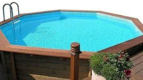 Doughboy Octagonal Wooden Pool 3.55m