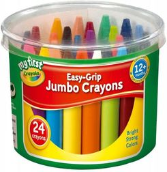 My First Crayola Easy-Grip Jumbo Crayons- Pack Of 24