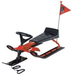 Snow Bike Red Sledge Toboggan