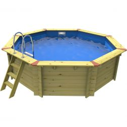 Eco Octagonal Wooden Pool - 3.71m x 3.71m by Plastica