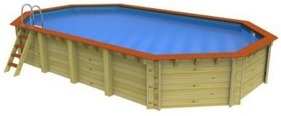 Stretched Octagonal Wooden Pool Westminster - 8.1m x 4.6m by Plastica