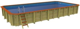 Rectangular Wooden Pool Chelsea - 10m x 5m by Plastica