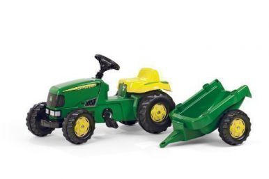 Rolly Kid John Deere Tractor & Trailer