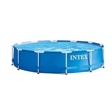 intex metal frame pool package 15ft x 42 28234 metal frame round pools. Black Bedroom Furniture Sets. Home Design Ideas