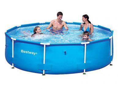 Bestway steel pro metal frame round pool 10ft x 30 no - Intex 10ft pool ...