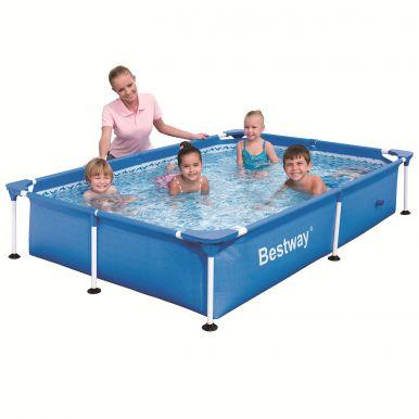 Bestway steel pro rectangular frame pool no pump 87 x 59 for Piscine rectangulaire enfant