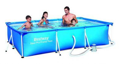 Paddling pool 157 bestway rectangular frame pool for Paddling pool filter