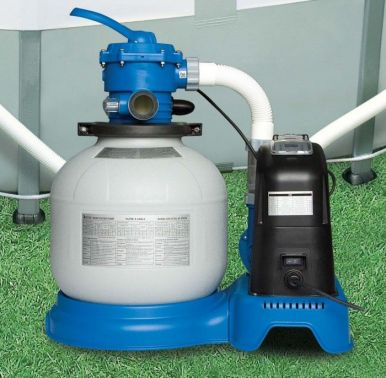 Intex 1600 Gall Hr Krystal Clear Sand Filter Pump With Saltwater System Pool Pumps Filters