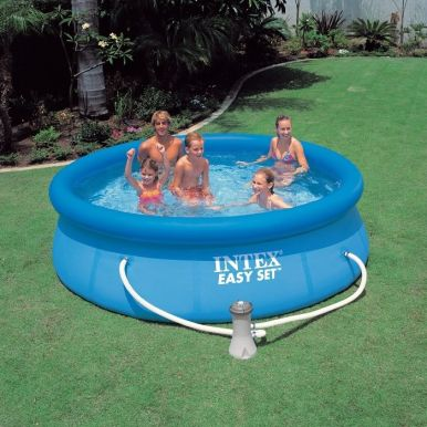 Intex easy set inflatable pool 8ft x 30 with pump 28112 for Pools for sale