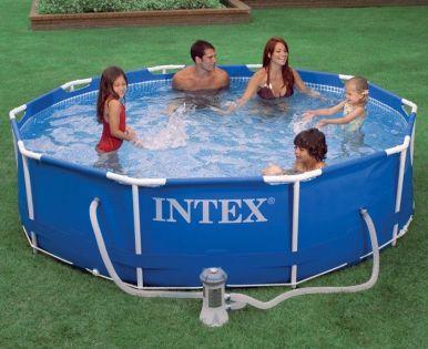 Intex metal frame pool 10ft x 30 - Intex 10ft pool ...
