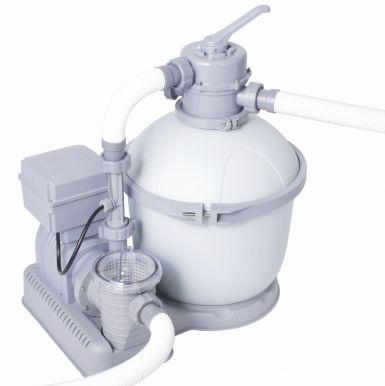 Bestway 1200 gallon flowclear sand filter pump with for Bauhaus sandfilterpumpe
