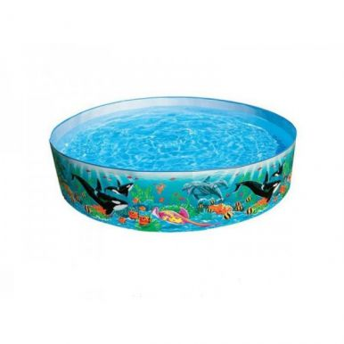 Coral reef snapset paddling pool 8ft for Garden paddling pools