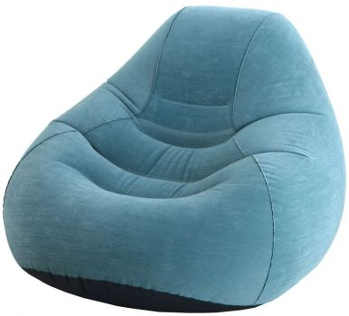 Intex Deluxe Beanless Bag Chair Classic Teal Air Beds