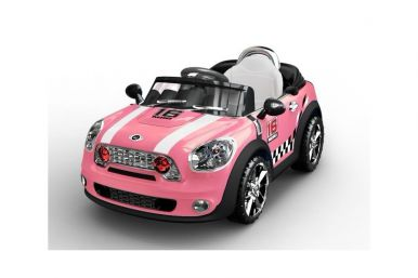 Mini Style Kids Ride On Car PINK TWIN 6v