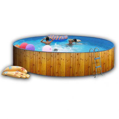 white coral wood effect pool x steel pools. Black Bedroom Furniture Sets. Home Design Ideas