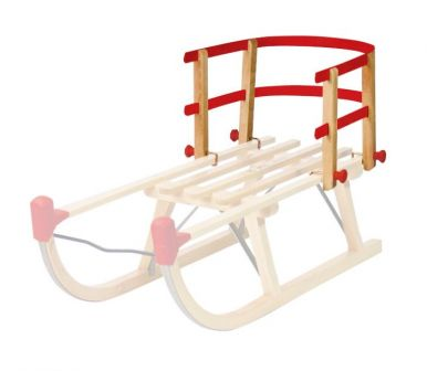 Children's Backrest For Wooden Sledges