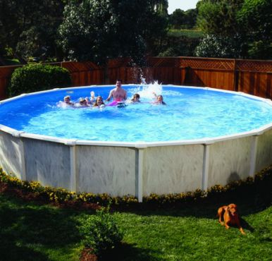 Doughboy regent round steel pool 15ft steel pools for Standard swimming pool size uk
