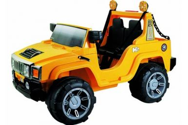 12 Volt Battery Powered Hummer Jeep GBA26 - Yellow
