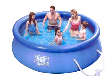Summer escapes quick set round inflatable pool 10ft x 30 for 10ft swimming pool with pump and cover