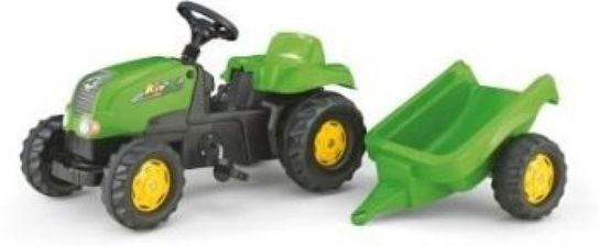 Rolly Kid Tractor & Trailer - Green
