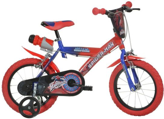 Dino Bicycles - Spiderman Bicycle 14""