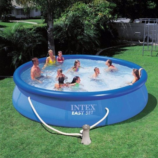 Easy Set Inflatable Pool Package - 15ft x 48in by Intex