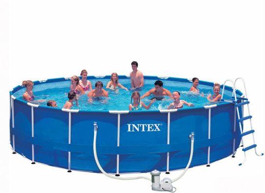 Intex Metal Frame Pool Package 18ft x 48\