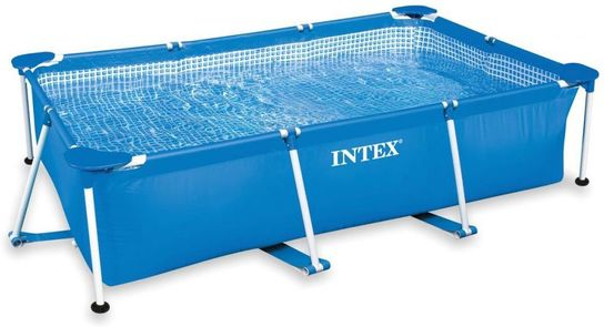 "Intex Rectangular Metal Frame Pool No Pump 86 5/8"" x 59"" x 23 5/8"""