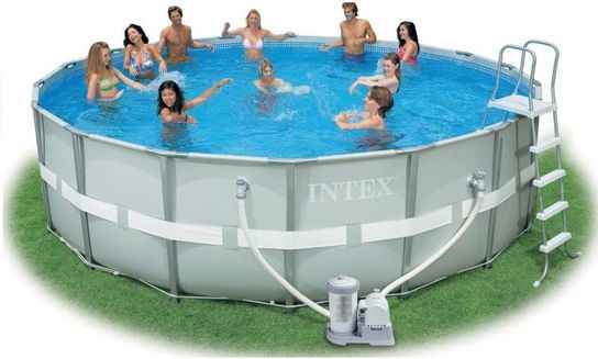 Intex Ultra Metal Frame Round Metal Pool 16ft X 48