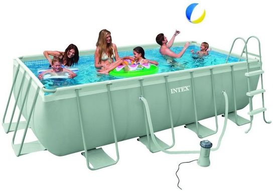Intex Ultra Frame Rectangular Frame Pool 157 12in x 78 34in x 39 3