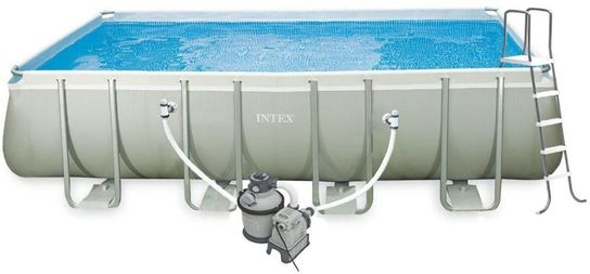 Intex Ultra Frame Rectangle Metal Pool 9ft x 18ft x 52in With Sand Filter - 26352