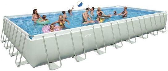 intex ultra frame rectangular metal pool 16 x 32 x 52 28372 - Rectangle Inflatable Pool