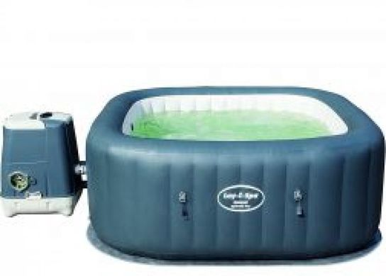 Lay-Z-Spa Hawaii HydroJet Pro Square Inflatable Portable Hot Tub Spa